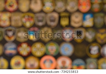 military chevrons in blur background #734215813