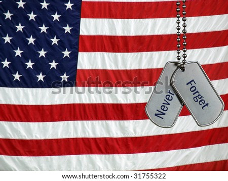 dog tags military. stock photo : military dog