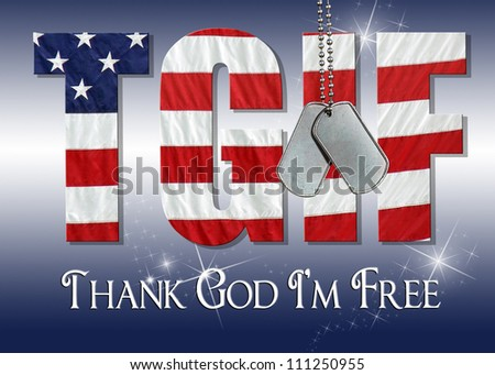 military dog tags on flag font