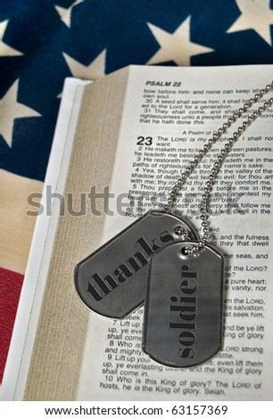 military dog tags on psalm 23