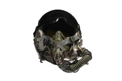 Military flight helmet isolated