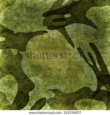 Military grunge background (brown, black, marsh, green colors)