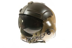 military helicopter pilot helmet