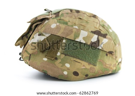 Military helmet isolate on a white background