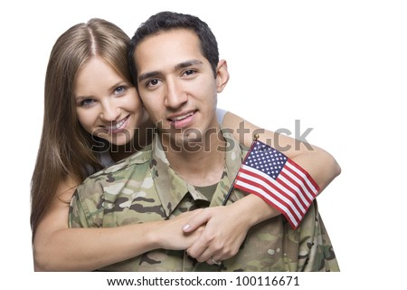 Military Husband and Wife