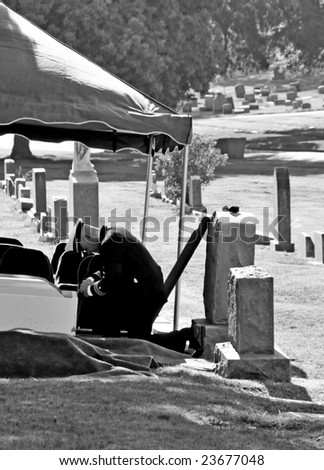 Military officer in uniform at funeral