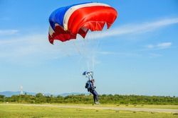 Military parachuting, skydiving sports in Thailand  ,  Parachute Thai military parachuting