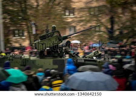 Military parade in Prague. #1340642150