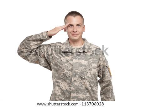 Military Serviceman Salutes
