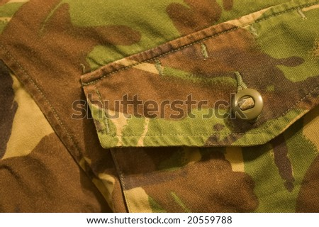 Military texture, brown, black, marsh, green colors, button