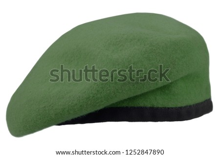military troops green beret isolated