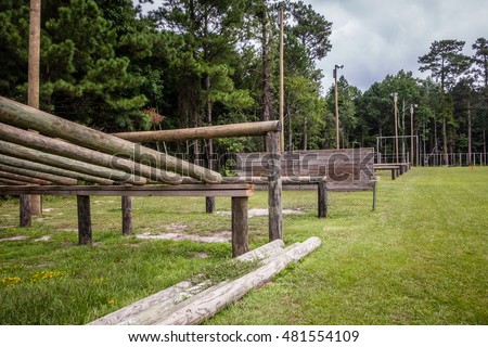 military type obstacle course