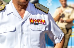 Military Uniform Officer. Spanish Armed Forces. Military honours and Military rank.