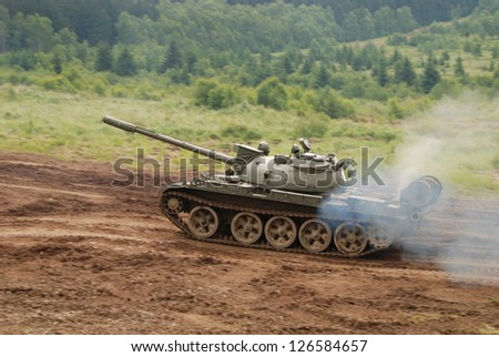 Military vehicle are guarding territory against the enemy