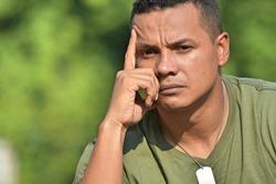 Military Veteran Soldier Thinking