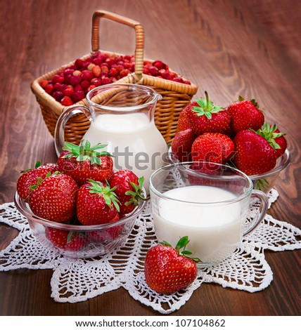 Milk and berry