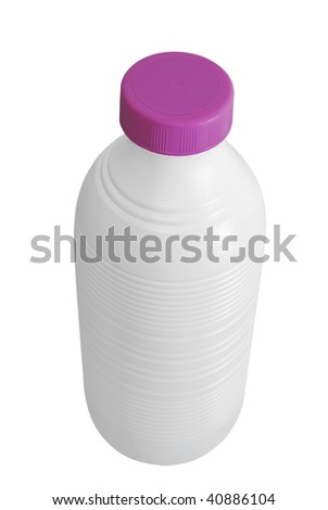 Milk bottle made of plastic. Healthy dairy product