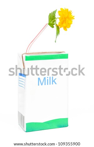 Milk box and flower