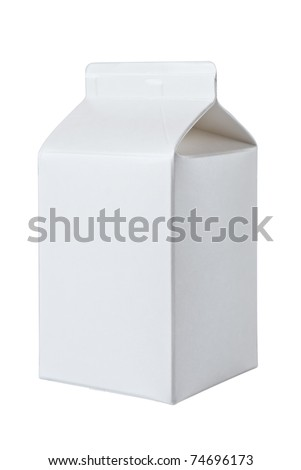 Milk Box per half liter, isolated on white background