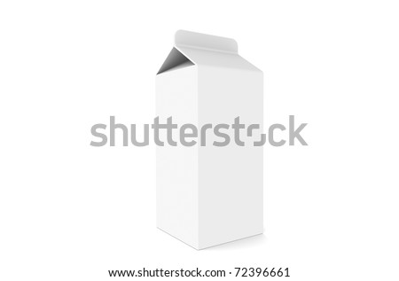 Milk Carton, isolated on white.