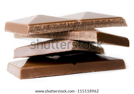 Milk Chocolate in a Stack