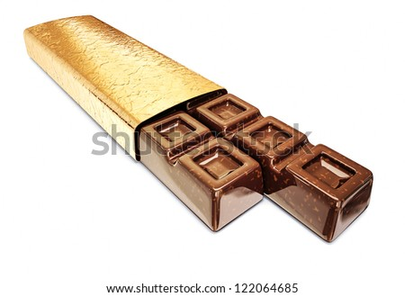 milk chocolate isolated on a white background
