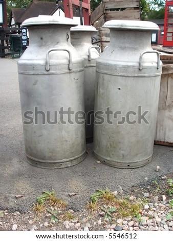 Milk Churns - stock photo