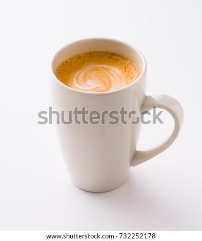 Milk coffee in a mug #732252178