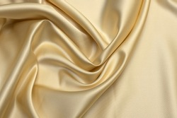 Milk-colored taffeta silk fabric artistic layout. Texture, background. template.