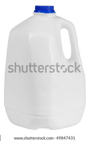 Milk container. Isolated
