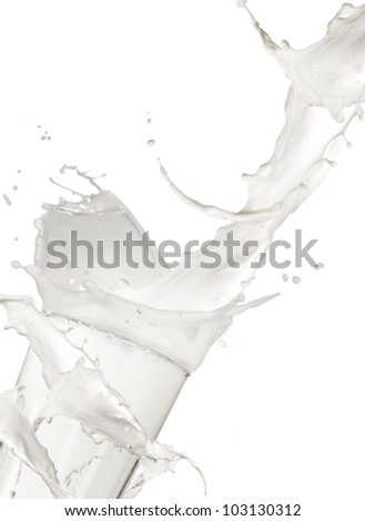 Milk drink, isolated on white background