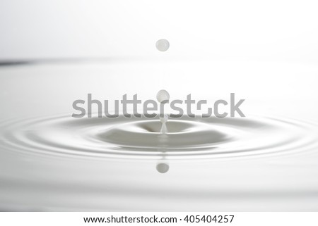 milk drop or white liquid drop created ripple wave