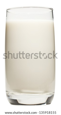 Milk glass isolated on a white background. Clipping path.