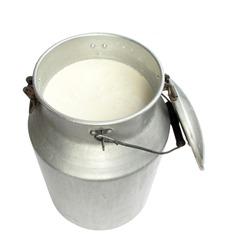 Milk in metal container
