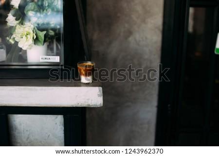 milk latte coffee latte art latte espresso  #1243962370