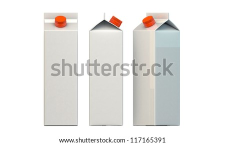 milk package isolated on white background