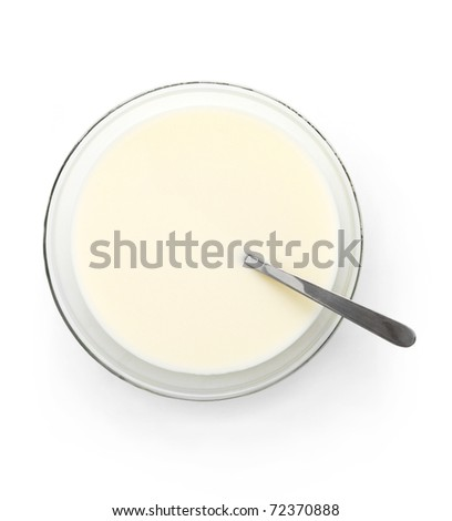 Milk plate with spoon