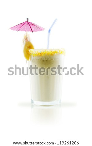 milk shake isolated on white background
