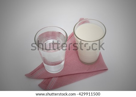 milk, soy milk and water #429911500