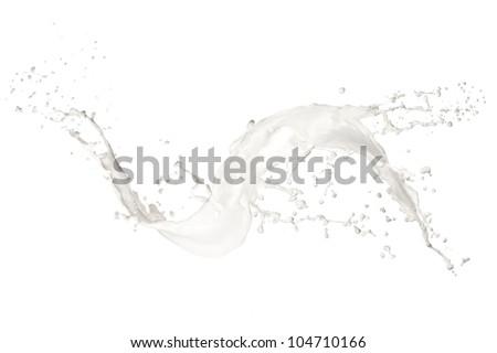 Milk splash, isolated on white background