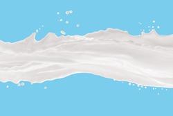 Milk Splash,splashing milk isolated on blue background