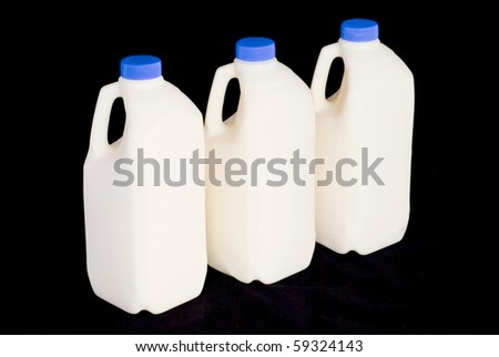 Milk, three bottles