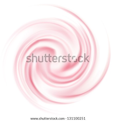 Milk Yogurt Cream Curl isolated on white background