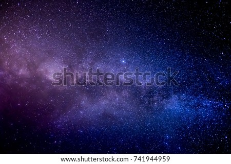 Milky Way and Stars in the Night Sky #741944959