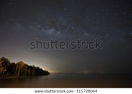 milky way and the sea