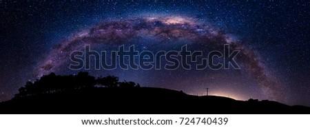 Milky Way arch over Akaroa