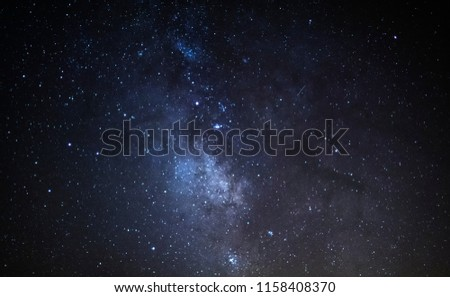 milky way at night #1158408370