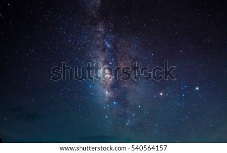 Milky Way. Beautiful night sky