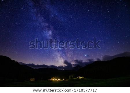 Milky way from Saltria, Alpe di Siusi Stockfoto ©