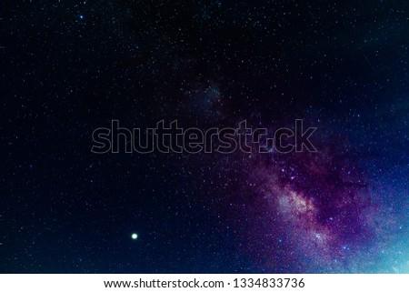 Milky way,galaxy,cosmos on dark sky #1334833736